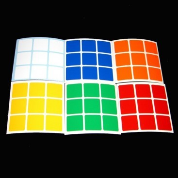 3x3 Stickers Standard Set. Pegatinas Base Negra