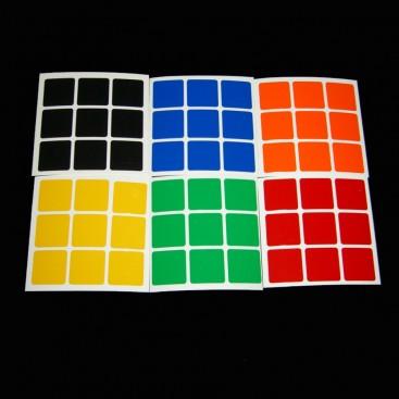 3x3 Stickers White Set. Pegatinas Base Blanca