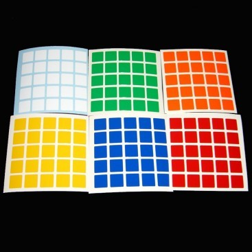 5x5 Stickers Standard Set. Magic Cube Replacement