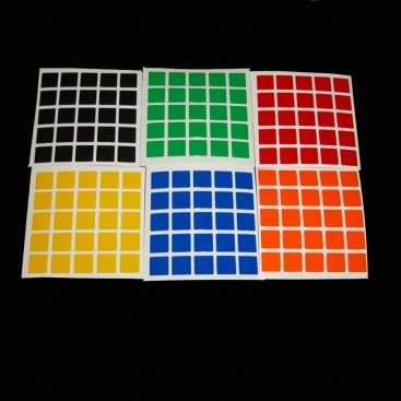 5x5 Stickers White Set. Magic Cube Replacement