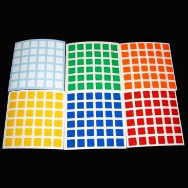 V-Cube 6x6 Stickers Standard Set. Pegatinas Base Negra
