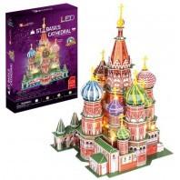 PUZZLE 3D CATEDRAL DE SAN BASILIO CITY LINE LED