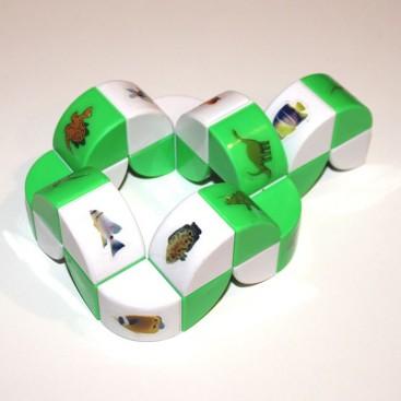 Plum Flower Magic Snake. Green Color