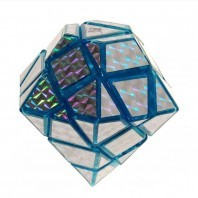 Diamante azul mágico. Cubo mágico 3x3 diamante.