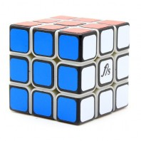 Mini Fangshi Shuang Ren 3x3x3 Magic Cube. White Base Black Cover