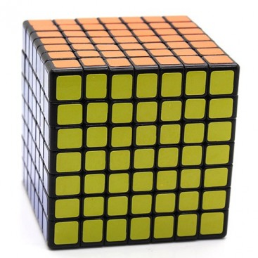 Mini ShengShou 7 x 7. Cubo mágico 69mm 7 x 7 x 7 preto base.