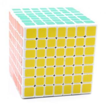 Mini ShengShou 7 x 7. Cube magic 69mm 7 x 7 x 7 white base.
