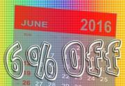 Este Junio descuento de 6%